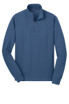 Twilight Blue Port Authority Slub Fleece 1/4-Zip Pullover
