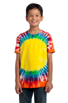 Rainbow Port & Company Youth Essential Window Tie-Dye Tee
